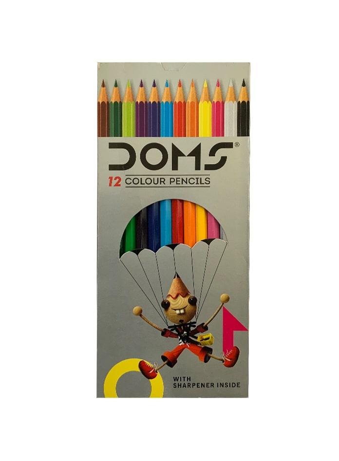 مداد رنگی 12 تایی دامز با تراش