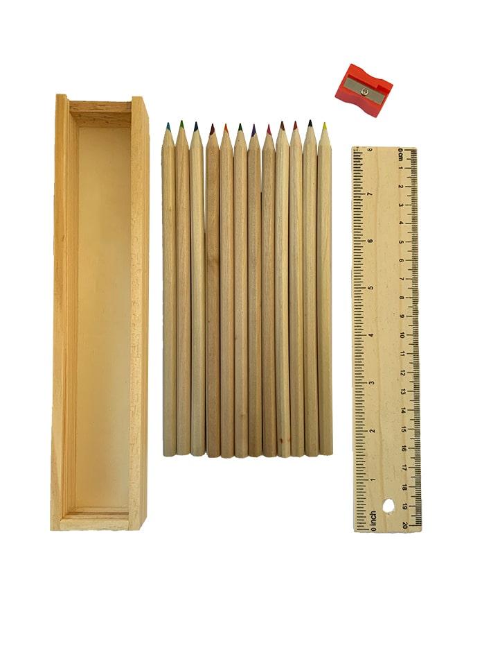 مداد رنگی چوبی 12 تایی