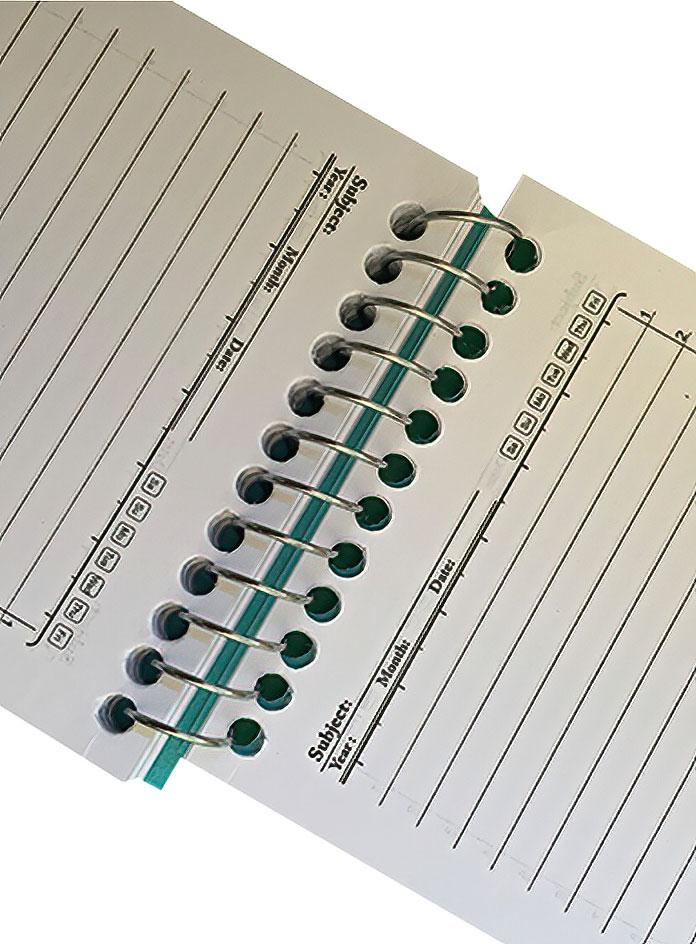 دفترچه یادداشت 8 برگ سایز 1/16 سیم از بالا وحدت