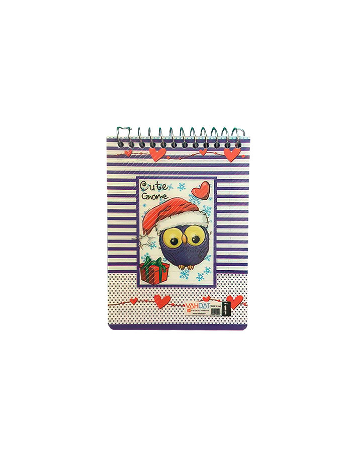 دفترچه یادداشت 8 برگ سایز 1/16 سیم از بالا وحدت فانتزی طرح فروزن کیوت