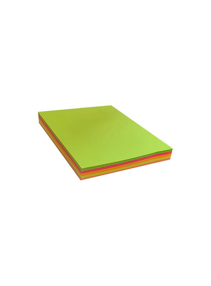 کاغذ چسب دار (استیکر) 5 رنگ 100 برگ jinxin